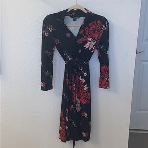 French Connection Floral Wrap Dress 2 XS